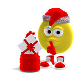 Cool and funny emoticon for christmas Stock Images