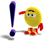 Cool and funny emoticon says yes mr. exclamation Royalty Free Stock Photo