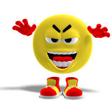 Cool and funny emoticon scares someone Royalty Free Stock Photos