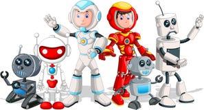 Free Cool Futuristic Robot Cyborg Cartoon Vector Illustration Set Royalty Free Stock Photos - 181027338