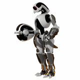 Cool futuristic warrior Royalty Free Stock Image