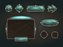 Cool game user interface vector assets. Medieval war GUI concept Royalty Free Stock Photo