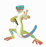 Cool Gecko toon Royalty Free Stock Images