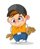 Cool Geek Mascot Cartoon Vector Illustration with Mad Face Stock Image