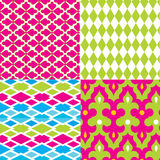 Cool Geometric Damask Patterns Bright Stock Image