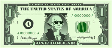 Cool_george_dollar_02 Royalty Free Stock Photos