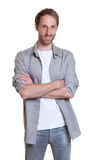 Cool German guy with crossed arms Royalty Free Stock Image