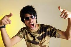 cool gesturing guy Στοκ φωτογραφίες με δικαίωμα ελεύθερης χρήσης