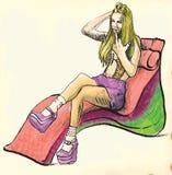 Cool girl Stock Image
