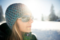 Cool girl with cap Royalty Free Stock Photography