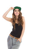 Cool girl in cap Royalty Free Stock Images