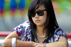 Cool girl with dark glasses Stock Photography