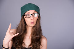 Cool girl Royalty Free Stock Photos