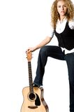 Cool Girl and Guitar Royalty Free Stock Photo