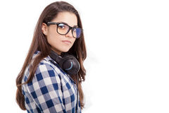 Cool girl with headphones Royalty Free Stock Photo