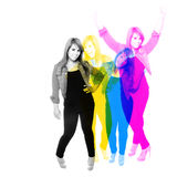 Cool Girl Montage royalty free stock photo
