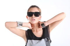 Cool girl with Sunglasses Stock Image