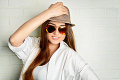 Cool girl in sunglasses Royalty Free Stock Image