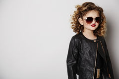 Cool girl in sunglasses Stock Image