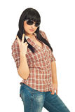Cool girl with sunglassses Royalty Free Stock Image