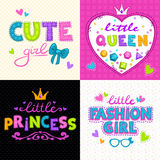 Cool girlie t shirt print set Royalty Free Stock Image