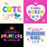 Cool girlie t shirt print set Royalty Free Stock Image