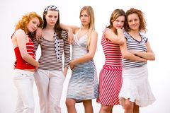 Cool girls Stock Image