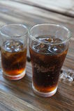Cool glass of cola in thailand Stock Photos