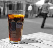 Cool glass drink alfresco style royalty free stock photo