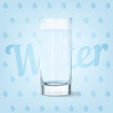 Cool glass of water. Vector image of fresh cool glass of water Stock Photography