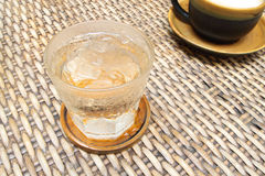 Cool glass of water stock photography