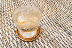 Cool glass of water stock image