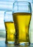 Cool glasses of beer Stock Photos