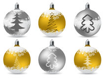 Cool glittering christmas decorations Stock Images