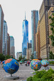 Cool Globes in Manhattan Royalty Free Stock Photos