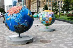 Cool Globes in Manhattan Royalty Free Stock Photo