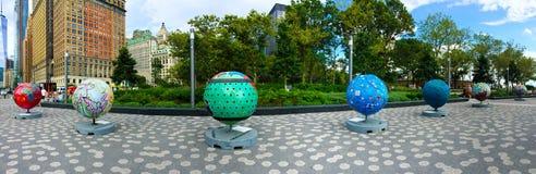 Cool Globes Panoramic Royalty Free Stock Photo