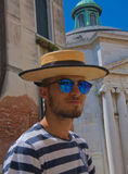 Cool Gondolier Royalty Free Stock Photos