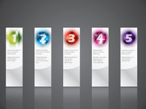 Cool gradation labels with haftones and rays Stock Image