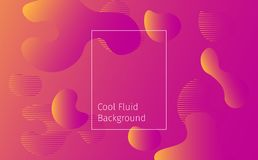 Cool gradient liquid shapes abstract vector illustration background vector illustration