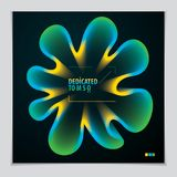 Cool gradient shape, futuristic design. 3d flower shape, vector. Abstract art. Perfect for gift card, cover, poster or brochure. Bright color wave dimensional Royalty Free Stock Photography