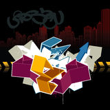 Cool graffiti image. For your design Royalty Free Stock Photography