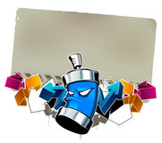 Cool graffiti image Royalty Free Stock Photos