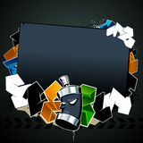 Cool graffiti image. With place for your text Royalty Free Stock Photos