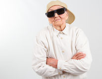 Cool grandma stands for her right Royalty Free Stock Photo