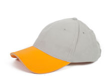 Cool gray cap. Cool gray baseball cap  with yellow visor Stock Photo
