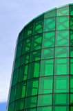 Cool green glass of a modern architecture Stock Photography