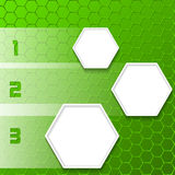 Cool green infographic design with hexagons Stock Photography