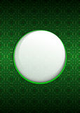 Cool green secession foliage with blank text circle vector. Illustration Royalty Free Stock Photography