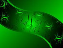 Cool green vector design. With floral ornament vector illustration